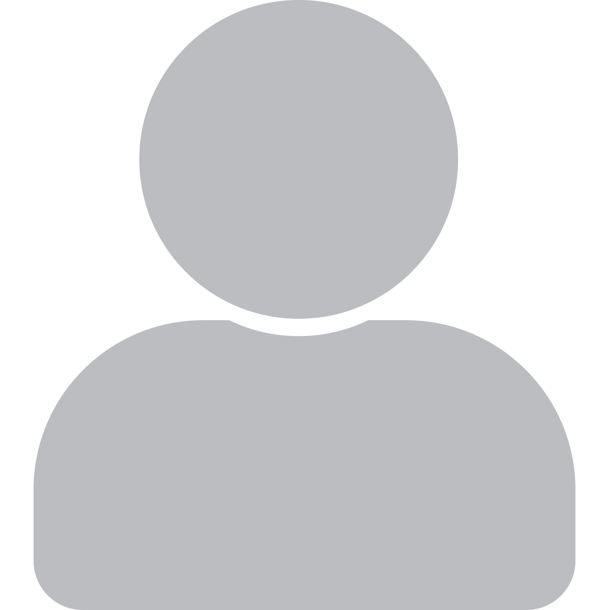 person icon grey